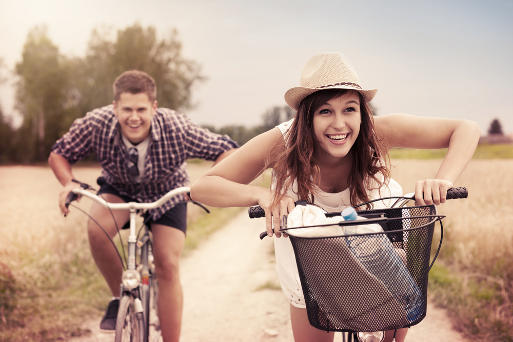 spring date idea bike ride